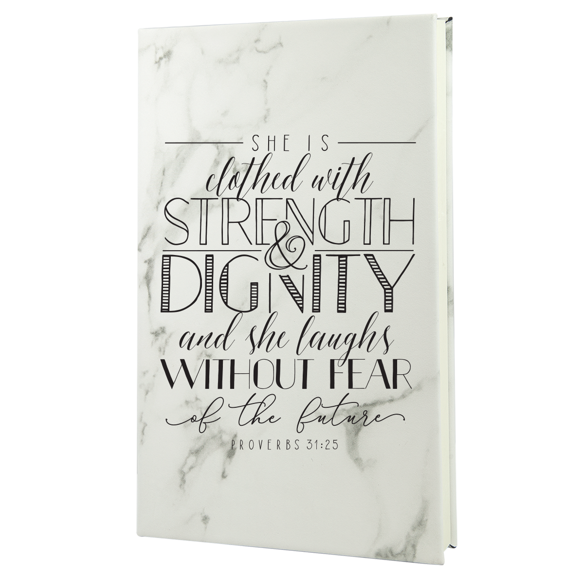 She Is Clothed Leatherette Hardcover Journal
