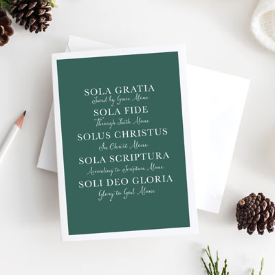Five Solas Greeting Card