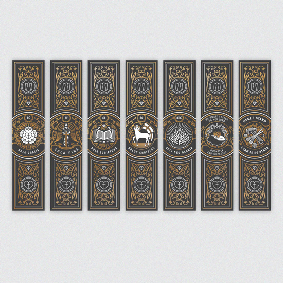 Five Solas Book Mark Set of 7