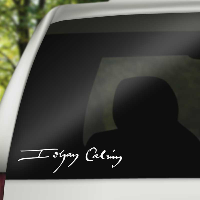 John Calvin Signature - Vinyl Decal