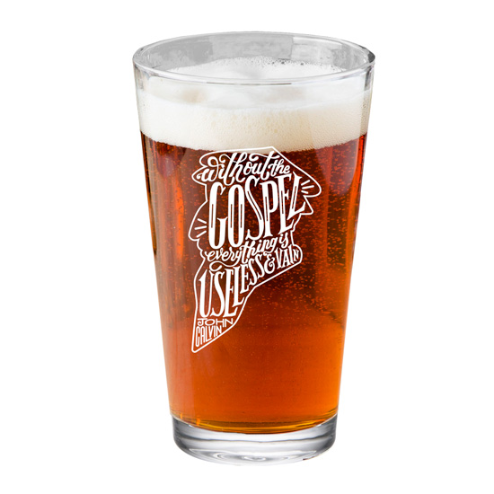 Without the Gospel Pint Glass