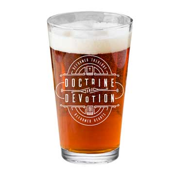 Doctrine and Devotion Pint Glass