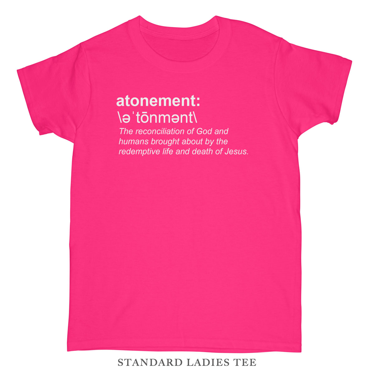 atonement (definition) ladies tee | missional wear
