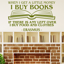 Erasmus Book Quote - Wall Art