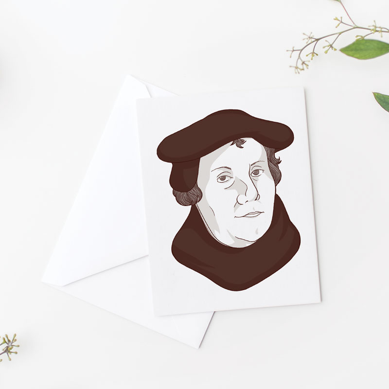 Martin Luther Flat Card