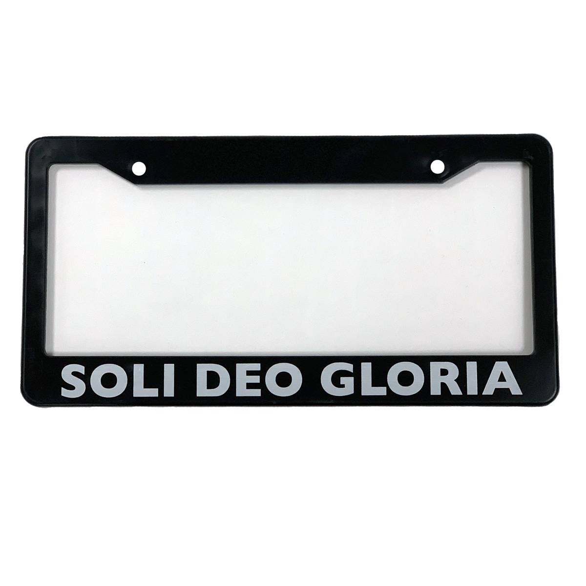 Soli Deo Gloria License Plate Frame