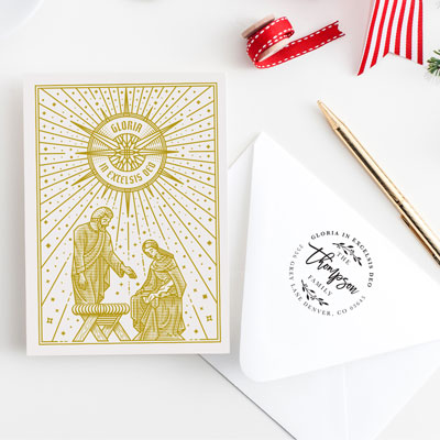 Gloria In Excelsis Deo Greeting Card