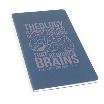 Theology Requires Brains Laser Etched Moleskine Journal