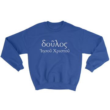Servant of Christ Jesus (Greek) - Crewneck Sweatshirt