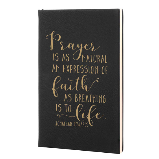 Prayer Is A Natural Expression Leatherette Hardcover Journal