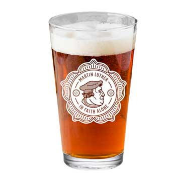 Martin Luther Badge Pint Glass