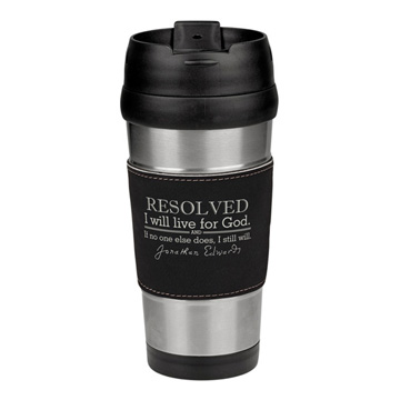 Resolved To Live - Edwards Leatherette Stainless Steel Travel Mug