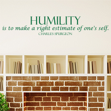 Humility Quote Vinyl Wall Statement