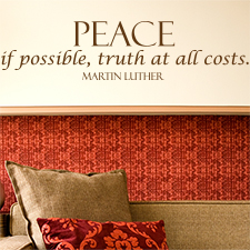 Peace If Possible Vinyl Wall Statement