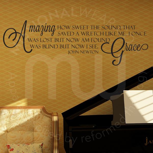Amazing Grace Song Quote Wall Decal By John Newton Missional Wear