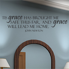 Grace Will Lead Me Home Vinyl Wall Statement