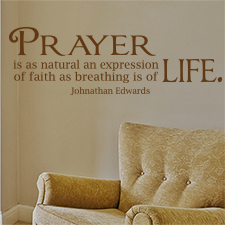 Prayer Is a Natural Expression Vinyl Wall Statement