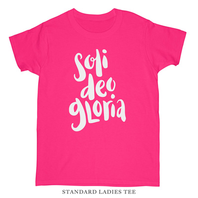 Soli Deo Gloria (Brushed) Ladies Tee