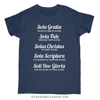 The Five Solas Ladies Tee