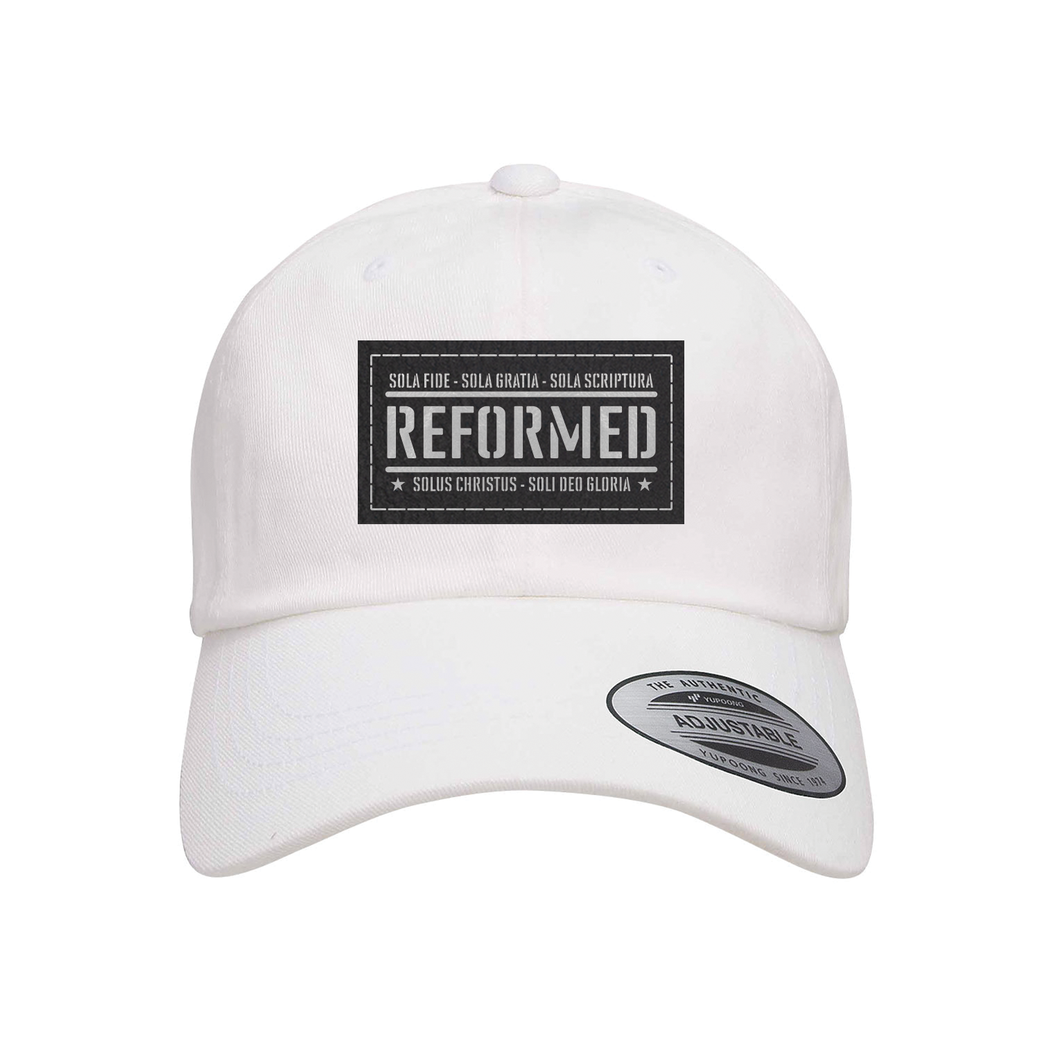 Reformed With The Five Solas Patch Dad Hat
