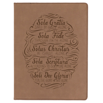 Five Solas Hand Lettered Portfolio Cover
