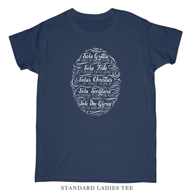 Five Solas Hand Lettered Ladies Tee