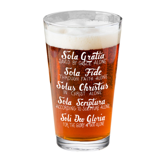 Five Solas Hand Lettered Pint Glass