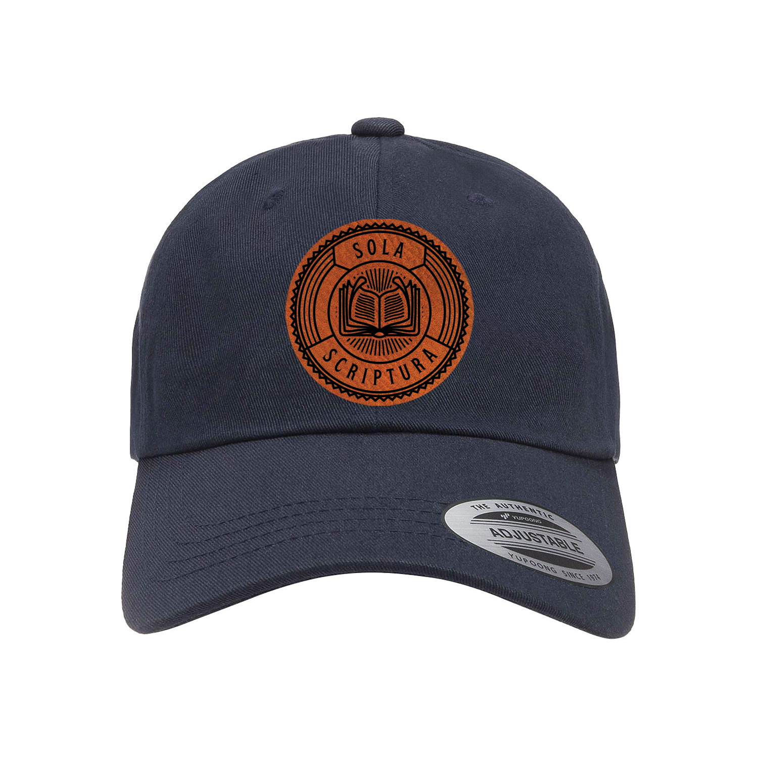 Sola Scriptura Badge Patch Dad Hat