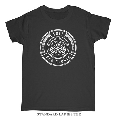 Soli Deo Gloria Badge Ladies Tee