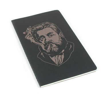 Charles Spurgeon Smoking a Cigar Laser Etched Moleskine Journal
