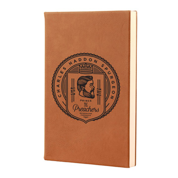 Charles Spurgeon Badge Leatherette Hardcover Journal