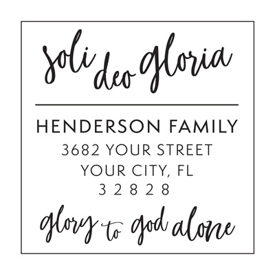 Soli Deo Gloria Address Stamp