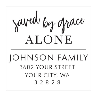 Saved By Grace Alone Address Stamp
