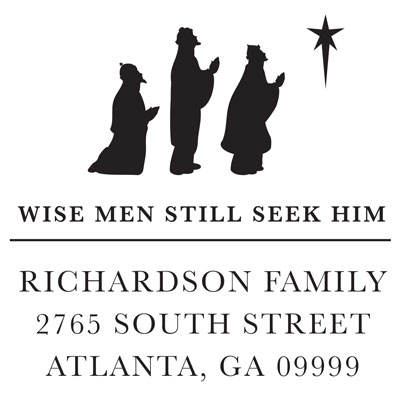 Wise Men Still Seek Him Address Stamp