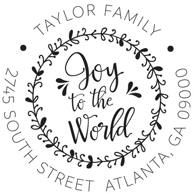 Joy To The World Address Stamp