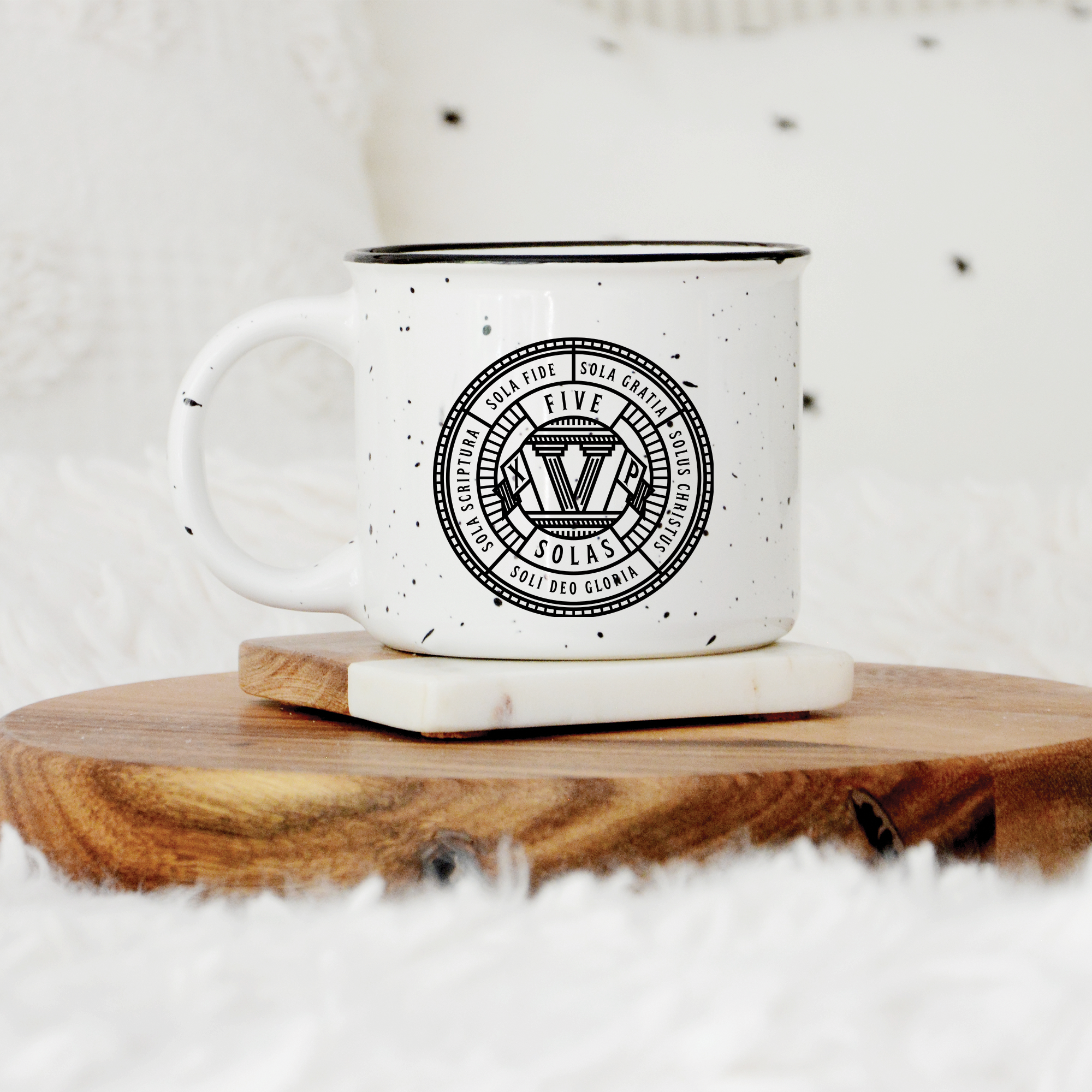 Five Solas Badge Camp Mug