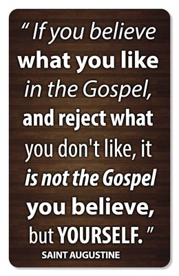 "Saint Augustine - Not The Gospel Sticker (3.5"" Tall)"