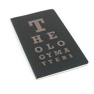 Theology Matters (Eye Chart) Laser Etched Moleskine Journal