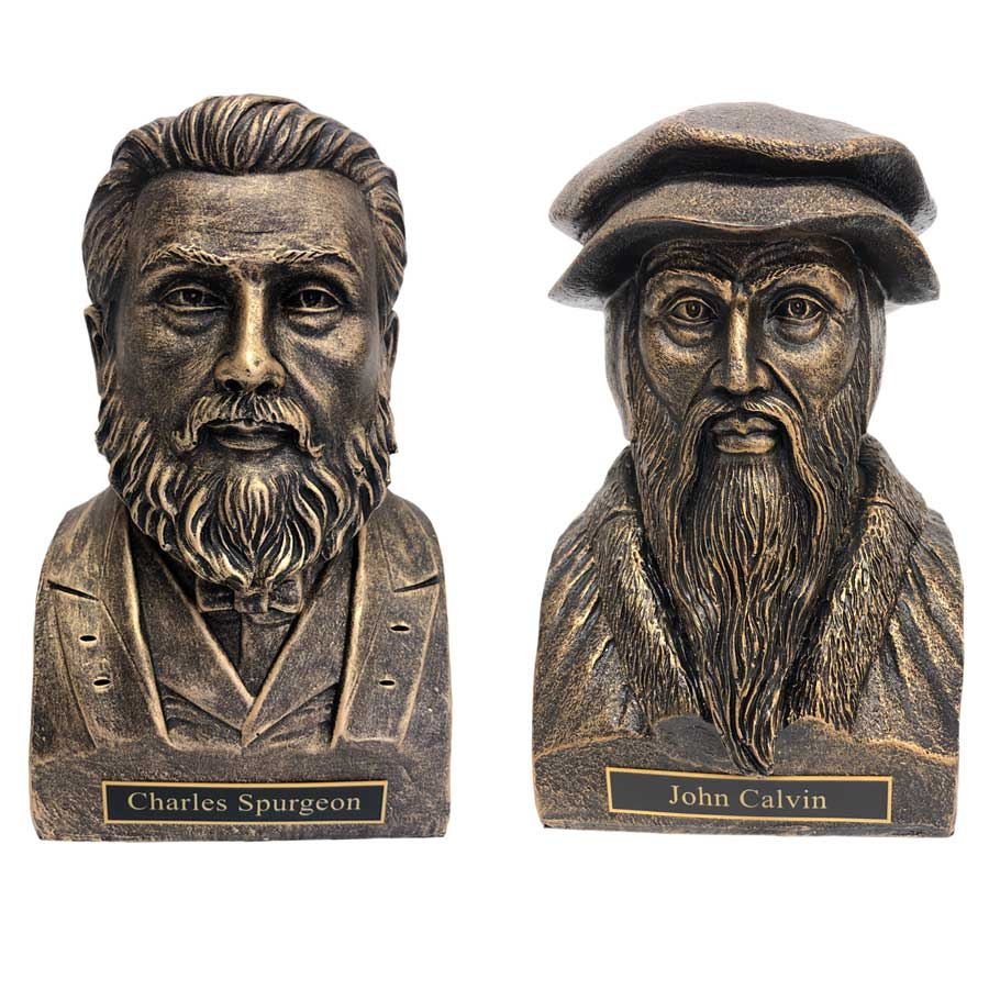 Spurgeon and Calvin Statue Bust