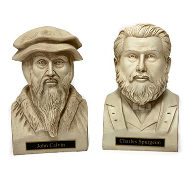 Spurgeon and Calvin White Statue Bust