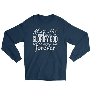 Glorify God and Enjoy Him - Long Sleeve Tee