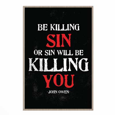 Be Killing Sin- Wall Print