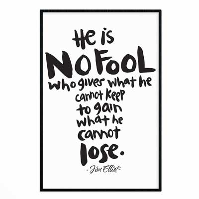 He Is No Fool - Poster Print