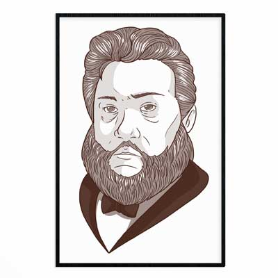 Charles Spurgeon Portrait- Poster Print