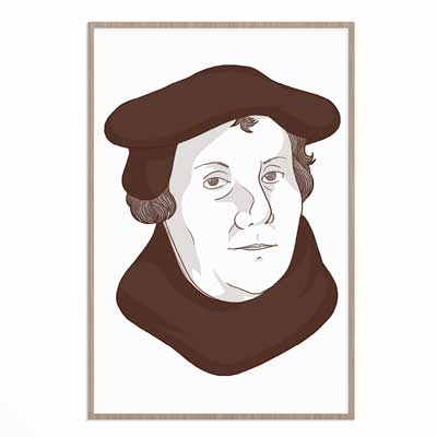 Martin Luther Portrait- Poster Print