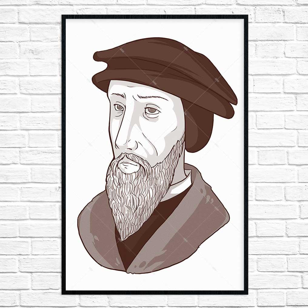John Calvin Portrait- Poster Print   Missional Wear