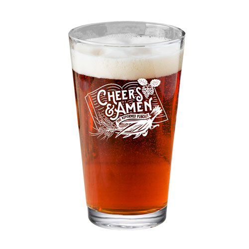 Cheers and Amen Pint Glass