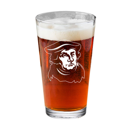 Martin Luther Pint Glass