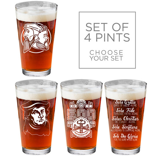 Make Your Own Set of 4 Pint Glasses