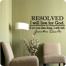 Resolved: To Live for God - Wall Art
